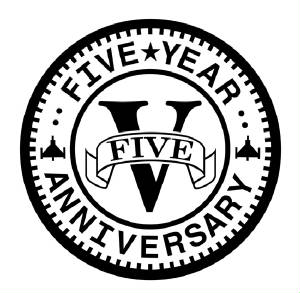 Arcade_Tokens/Five_Year_Anniversary_Logo.jpg