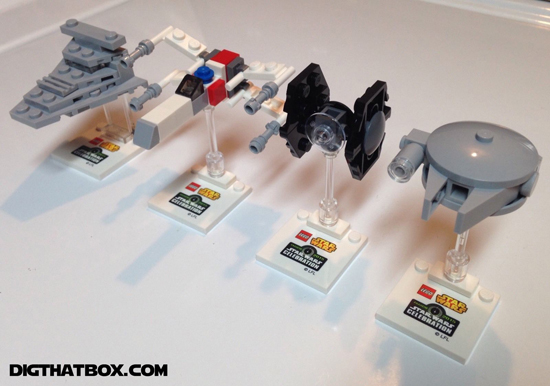 Celebration Anaheim Daily Lego Mini Builds Falcon Isd Tie Xwing